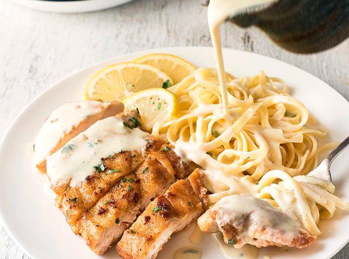 Рецепт из куриного филе с макаронами 177
