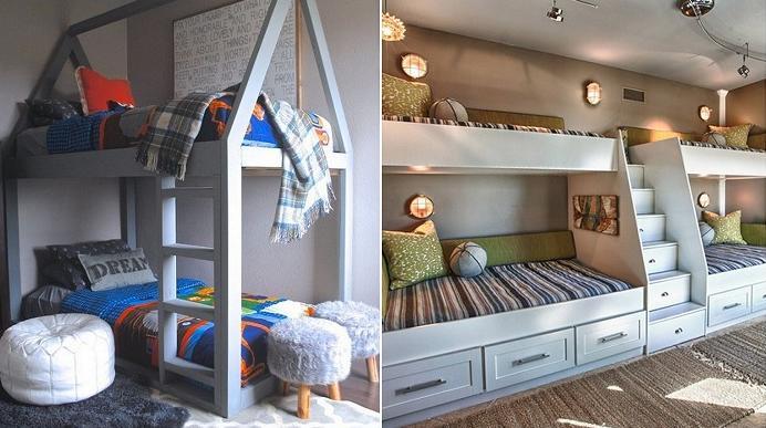 Идеи для двухъярусных детских кроватей