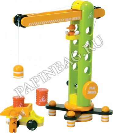 Подъемный кран своими руками игрушка