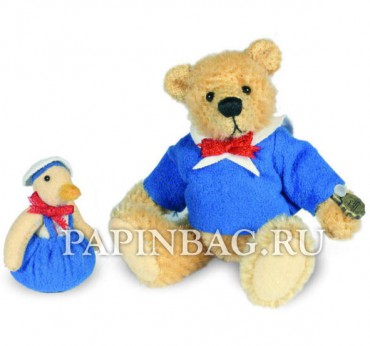 Коллекционный мишка Andrew With Duck, 8 см, Limited Edition Hermann Teddy Miniaturen