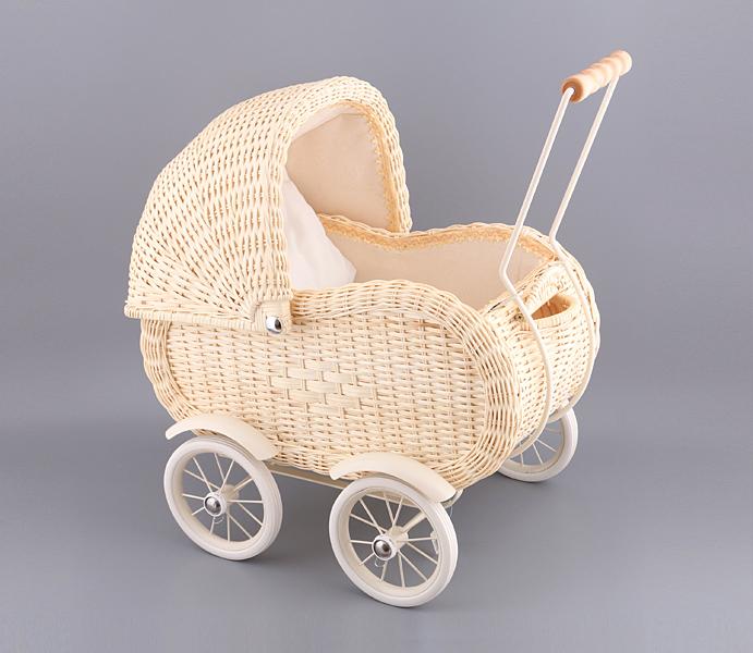 Плетеная коляска для кукол купить
